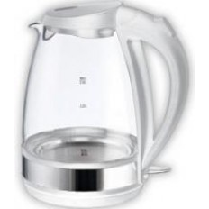 Чайник ENERGY E-254G (2,0 л, диск) стеклянный, белый